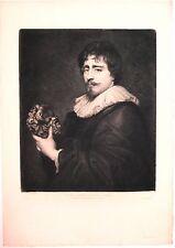 """Eau-forte de WALTNER , d'après Van Dyck , """"Duquesnoy"""""""