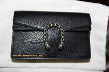 NEW SOLD OUT GUCCI DIONYSUS MINI CHAIN BAG BLACK LEATHER W CRYSTALS WOC CLUTCH