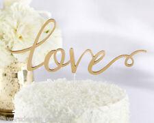 Gold Acrylic Love Cake Topper Wedding Cake Top Bridal Shower cake topper