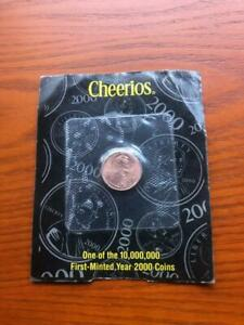 Cheerios Penny New Sealed 2000 Dated Coin First Minted