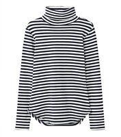 Joules Clarissa Roll Neck Jersey Top (Navy Cream Stripe)