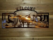 "LONGHORN WELCOME SIGN""  Hand Made in Waco Texas CNC PLASMA ART"