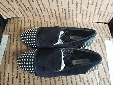Steve Madden Cachet Velvet & Spikes Slip-On Loafers Men's Dress Shoes Size 10