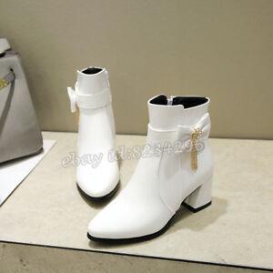 Sweet Damen Ankle Boots Stiefeletten Schleife Kurzer Schuhe Stiefel Knöchelhoch