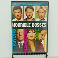 Horrible Bosses (DVD, 2011) Jason Bateman, Jennifer Aniston, Colin Farrell.