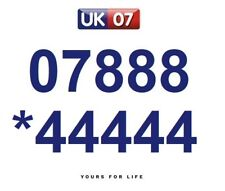 07888 *44444 Numbers - Gold Easy Memorable Business Platinum VIP Mobile Numbers