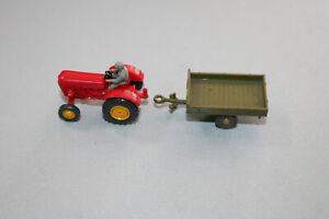 Wiking Traktor Porsche Schlepper mit Anhänger Spur H0 #C452
