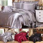 4-Piece Full/Queen/King Size Satin Bedding Set Duvet Cover Pillow Case Bed Sheet