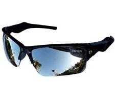 Sporty Car Logo Blue Lens Sunglasses Driving Sport Glasses - SILVER