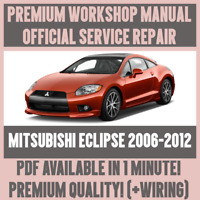 WORKSHOP MANUAL SERVICE & REPAIR GUIDE for MITSUBISHI ECLIPSE 2006-2012 +WIRING