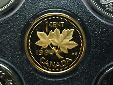 1984 UNC Frosted Proof Canadian Penny One Cent - 1 cent coin