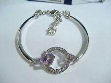 Swarovski Geometric Violet Bangle Moonlight Clear Adjustable Crystal MIB 5032897