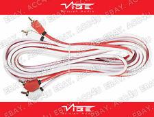 Vibe Audio ad 5 metros triple blindado Phono Rca Amplificador estéreo de coche lleva cable