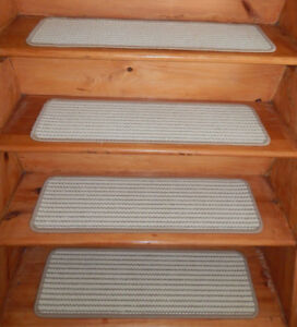 14 Step  9'' x 30'' + 1 Landing 30'' x 30'' carpet Wool Blend Woven Stair Treads