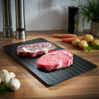 Fast Thawing Meat Black Tray Rapid Safety Defrosting Frozen Food Prepare Tool