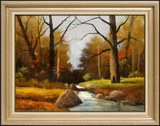 Robert William Wood Original Landscape Painting Oil On Canvas Signed River Art
