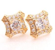 De mujer 18 CT Baádo En Oro Amarillo Diamante Sintético