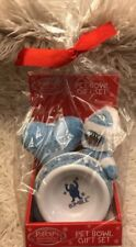 Rudolph The Red Nosed Reindeer Bumble Abominable Snowman Pet Bowl Dog Gift Set