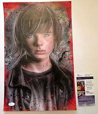 Chandler Riggs / Carl-JSA COA SIGNED: Walking Dead 11x17 Con Exclusive Art Print