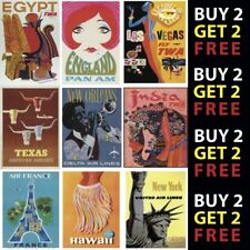 More details for vintage retro airline travel posters a4 - a3 prints 300gsm paper/card