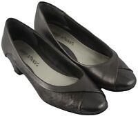 Easy Street Women Ladies Pewter Slip On Block Kitten Heels Shoes Size 5M