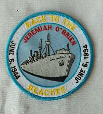 Vintage Fully Embroidered JEREMIAH O'BRIAN Back to the Beaches U.S.A  Patch