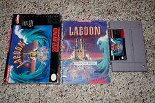 Lagoon (Super Nintendo Entertainment System SNES, 1991) Complete GOOD H