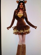 Womens Sexy CHRISTMAS REINDEER RUDOLPH Fancy Dress Costume Outfit