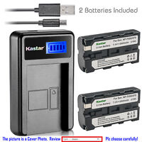 Kastar Battery LCD Charger for NP-F570 Sony MVC-FD73 MVC-FD75 MVC-FD81 MVC-FD83