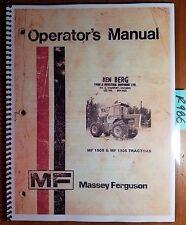 Massey Ferguson MF 1505 MF 1805 Tractor Owner Operator's Manual 1448 315 M5 2/77