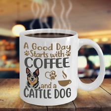 Coffee With My Blue Heeler Mug, Australian Cattle Dog Coffee Mug, Acd Dog Mug
