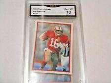Joe Montana GRADED CARD!! Gem Mint 10!! 1985 Topps Stickers #210 49ers HOFer! %2