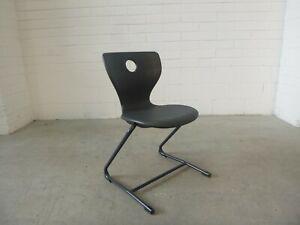 Office/Home/School PantoSwing-LuPo Chair Black Plastic - Verner Panton 38399