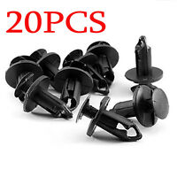 20pcs 9mm Auto Car Bumper Fender Retainer Push Black Plastic Clips Fasteners YX