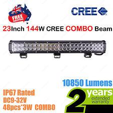 23inch 144W CREE LED Light Bar Work COMBO Beam Truck ATV SUV 4WD Car 12V