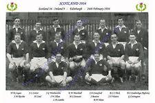 "SCOTLAND 1934 (v Ireland) 12"" x 8"" RUGBY TEAM PHOTO PLAYERS NAMED"