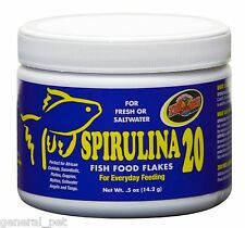 Zoo Med's Spirulina 20 Fish Food Flakes .05 oz
