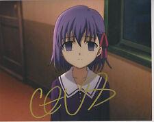 CRISTINA VALENZUELA Fate/zero Sakura Matou Anime Voice SIGNED 8X10 Photo