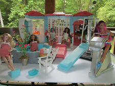 Custom Barbie Spa House Hot Tub Repaint Big LOT Furniture Model Muse OOAK Set