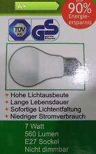 6 Stück TÜV und GS geprüft - E27 7Watt LED-Birne Warmweiss 560 Lumen [EEK: A+]