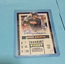 2017 Panini Contenders Dansby Swanson Autograph RC Ticket Cracked ICE #6 13/24
