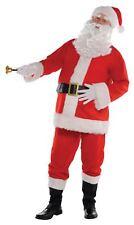 Large Classic Santa Suit Fancy Dress Costume Hat Belt Father Christmas Outfit