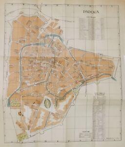 VENETO_PADOVA_ANTICA CARTOGRAFIA_MAPPA TOPOGRAFICA_VIABILITA'_TEATRI_SCUOLE_1904