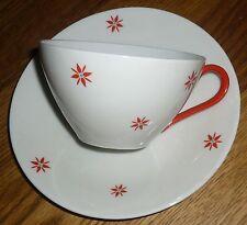 1  Teetasse + Untertasse Elfenbein  Porzellan   Oscar Schaller  Bavaria