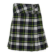 "Ladies Knee Length Dress Gordon Kilt Skirt 20"" Length Tartan Pleated"