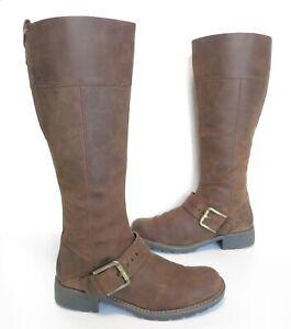 Ladies CLARKS Orinoco Jazz Brown leather Low-heel knee Boots Size UK 5 Exc Cond