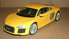 1/24 Scale Audi R8 V10 Coupe Diecast Model Sports Car Type 4S Welly 24065 Yellow