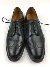 Florsheim Imperial Kenmoor Longwing 17109 Black Smooth Leather Sz 10 EEE