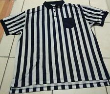 Men's Foot Locker Stripe Shirt Employee Uniform Referee Black White Footlocker