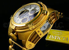 "Invicta Reserve 56mm Bolt Zeus Tria""Twisted Metal"" Swiss Made Chrono Strap Watch"